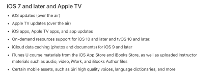 Content Caching - iOS 7 and later and Apple TV